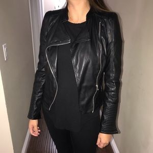 Zara Faux Leather Moto Jacket RARE